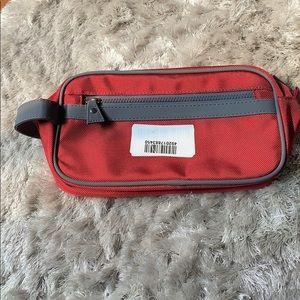 Handbags - NWT Red and Grey Toiletries Bag